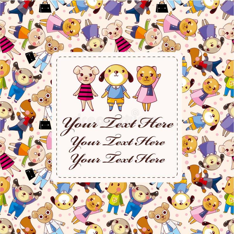 Cartoon dog card