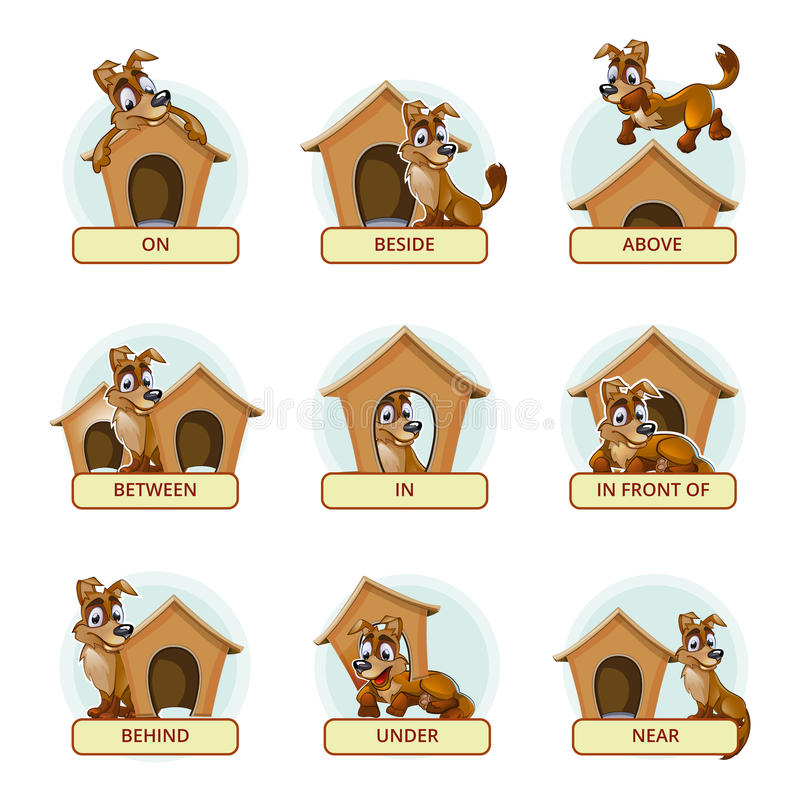 Free Cartoon Dog In Different Poses To Illustrate Stock Photo - 61713110