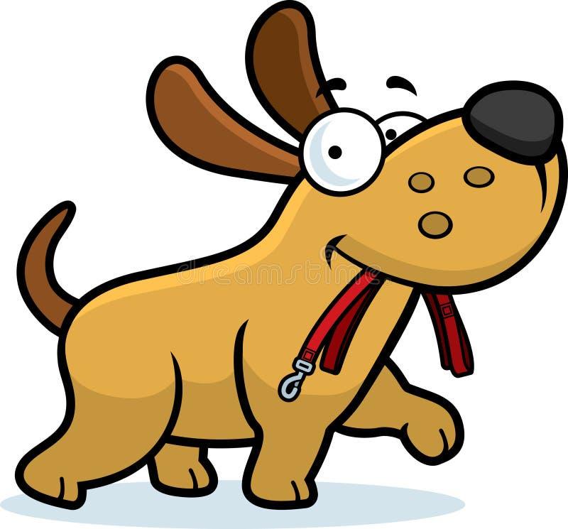 Cartoon Dog Leash royalty free illustration