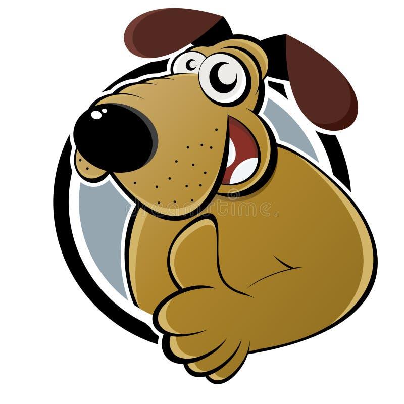 Cartoon dog with thumb up