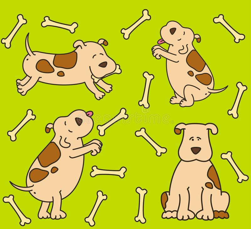 Cartoon dogs stock illustration
