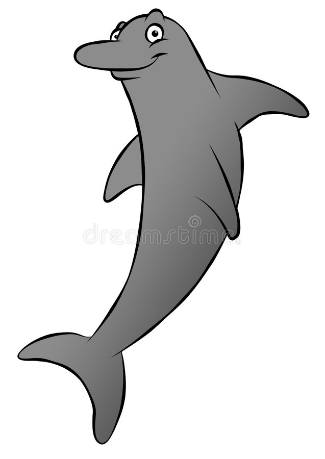 Download Cartoon Dolphin stock illustration. Image of dolphin, illustration - 4530630