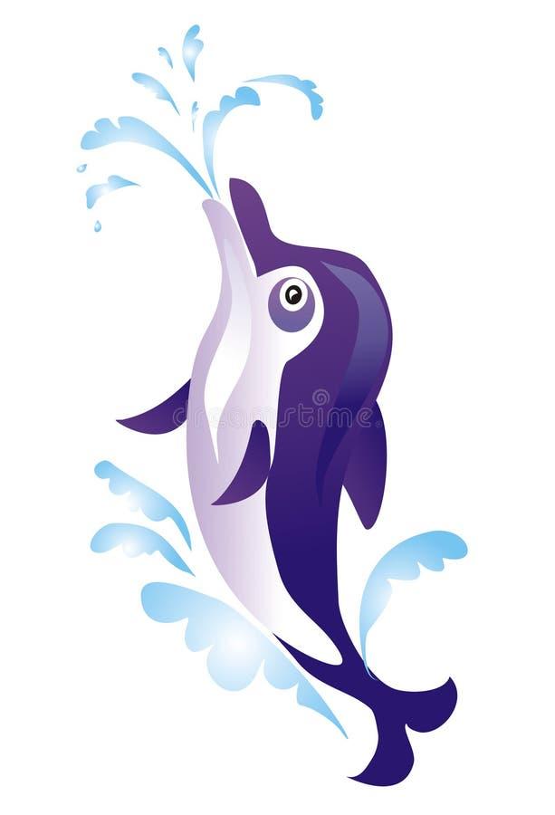 Cartoon dolphin, vector illustration royalty free illustration