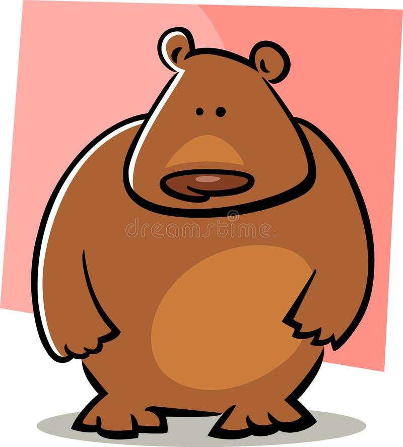 Cartoon doodle of bear vector illustration