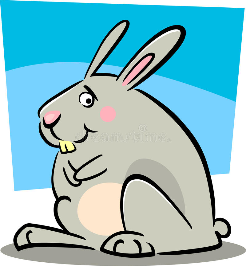 Cartoon doodle of bunny vector illustration
