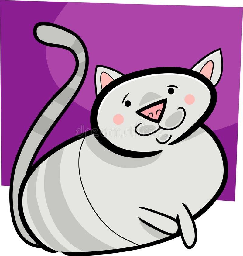 Cartoon doodle of cat stock illustration