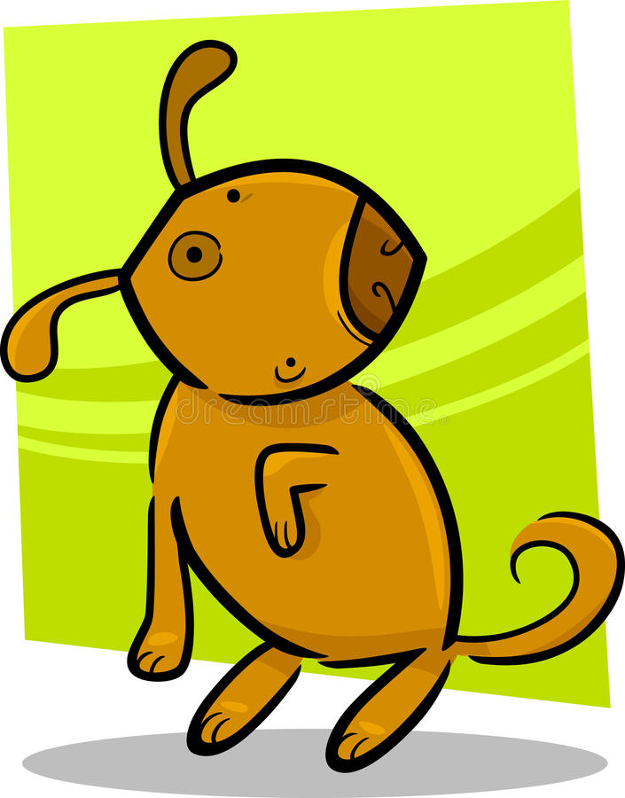 Download Cartoon doodle of cute dog stock vector. Image of drawing - 25446270