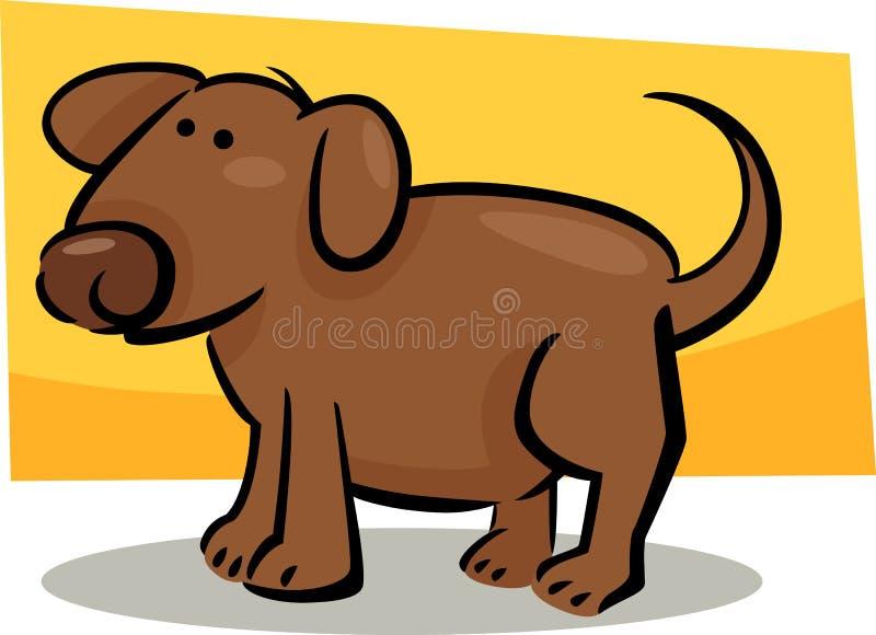 Cartoon doodle of dog vector illustration