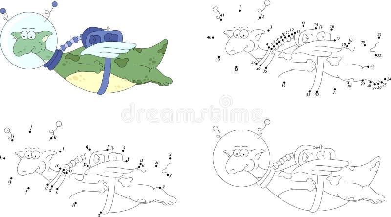 Cartoon Astronaut, Alien, Rockets And Planets. Vector