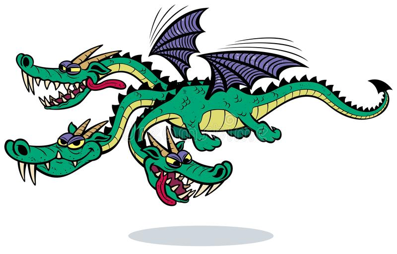 Download Cartoon Dragon stock vector. Illustration of three, monster - 32049819