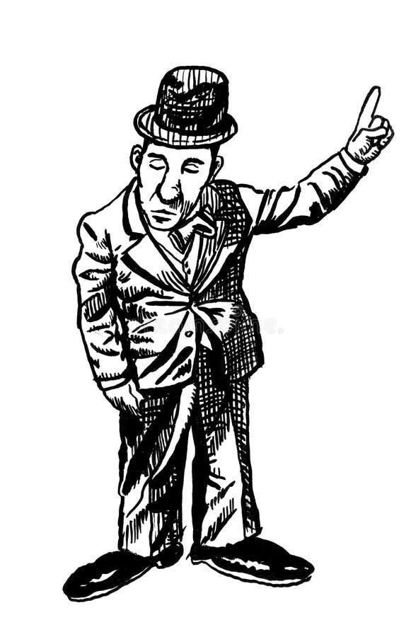 Cartoon drawing of a man royalty free illustration