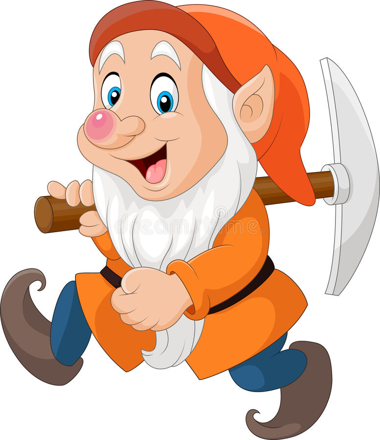 Free Cartoon Dwarf Miner Stock Image - 82503671