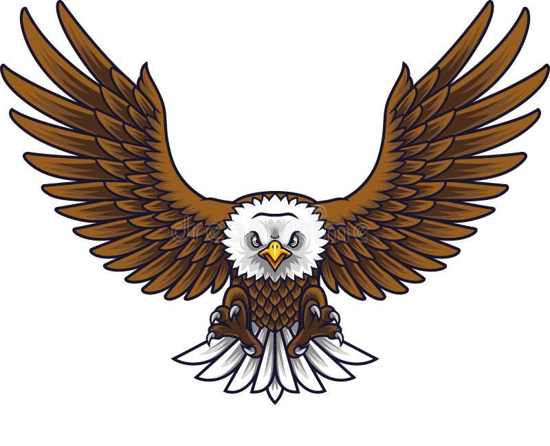 Cartoon eagle mascot royalty free illustration