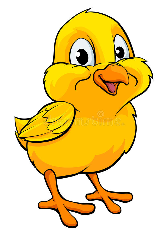 Free Cartoon Easter Chick Stock Images - 75706094