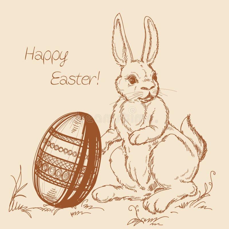 Cartoon Easter scene vector illustration