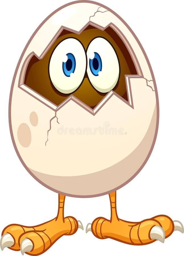 Cartoon egg vector illustration