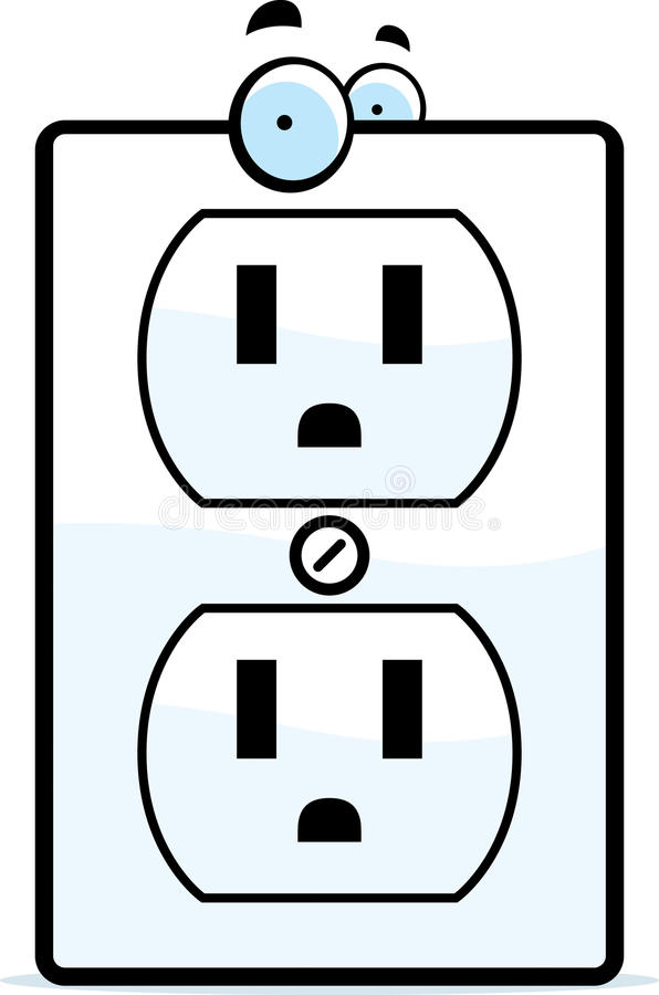 Cartoon Electrical Outlet royalty free illustration