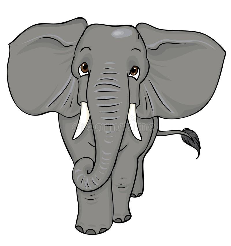 Cartoon elephant stock illustration. Illustration of tusks ...