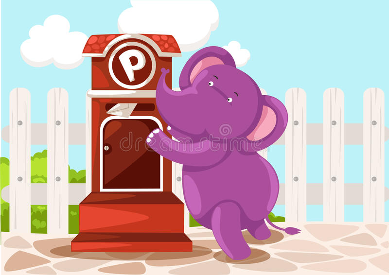 Download Cartoon Elephant Sendin Letter Stock Vector - Illustration of express, date: 26327638