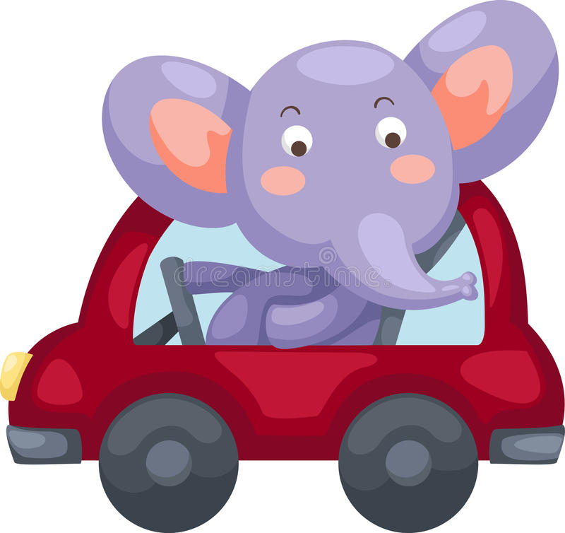 Cartoon elephant vector vector illustration