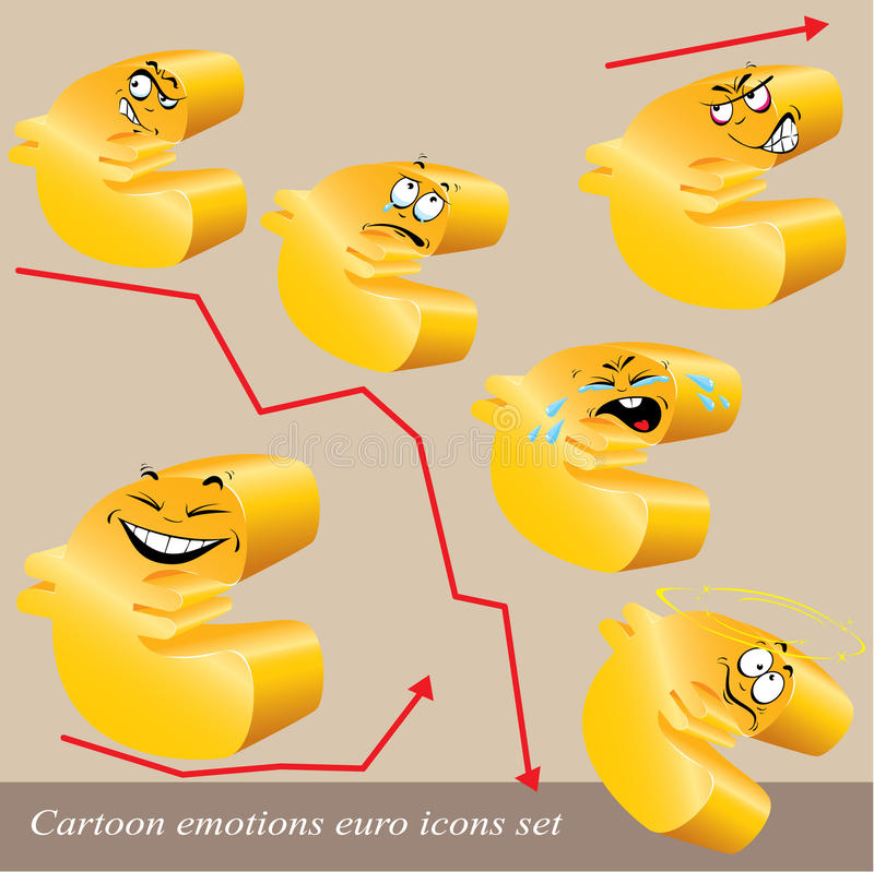 Download Cartoon Emotions Euro Icon Set Stock Vector - Image: 28277376