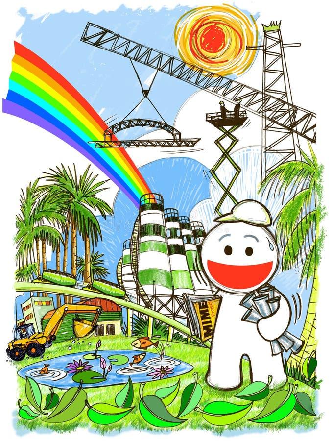 Cartoon Engineering Stock Image