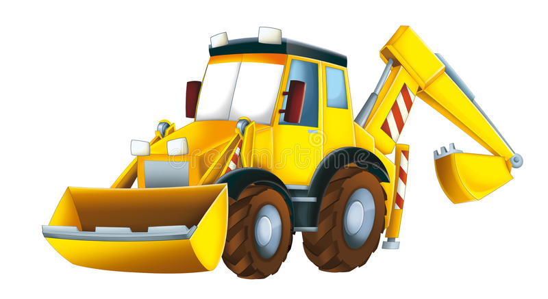 Cartoon excavator stock illustration. Illustration of ...