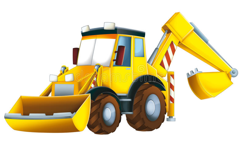Cartoon excavator royalty free illustration