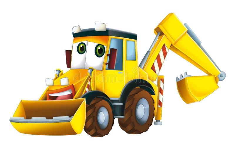 Cartoon excavator. Beautiful illustration for the children vector illustration