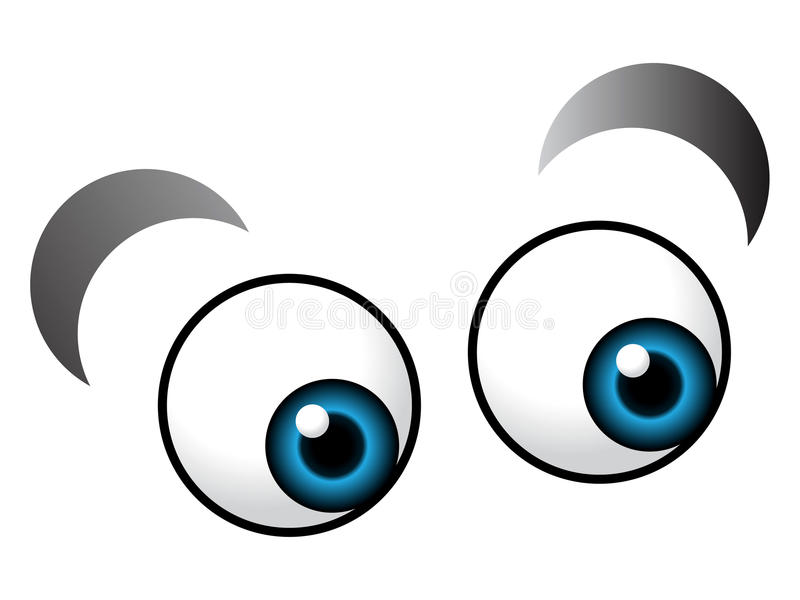 Cartoon eye. Illustration of cartoon eyes on isolated background