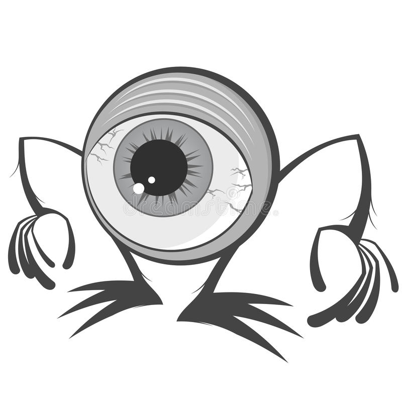 Download Cartoon Eyeball Monster Stock Photography - Image: 21041472