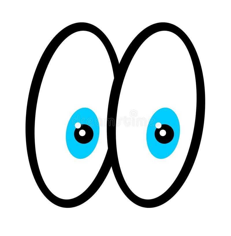 Cartoon eyes. Eyes of a cartoon character vector illustration