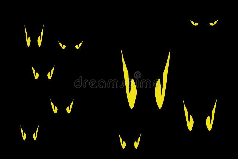 Download Cartoon eyes in the dark stock illustration. Illustration of abstract - 22757807