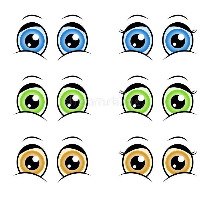 Free Cartoon Eyes, Expression Vector Silhouette Symbol Icon Design. Stock Photos - 82498643