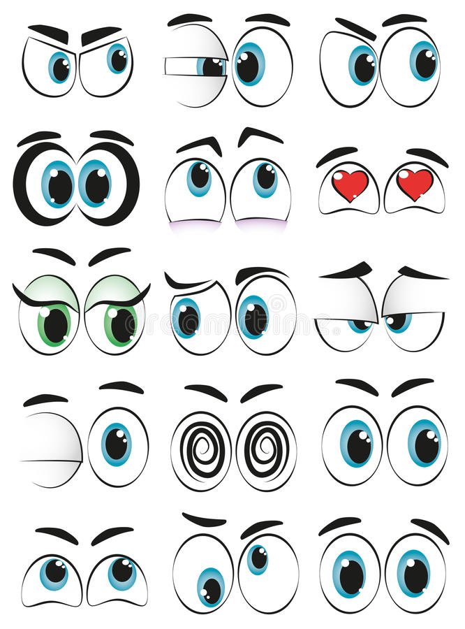 Cartoon eyes. Some cartoon eyes expressing different moods