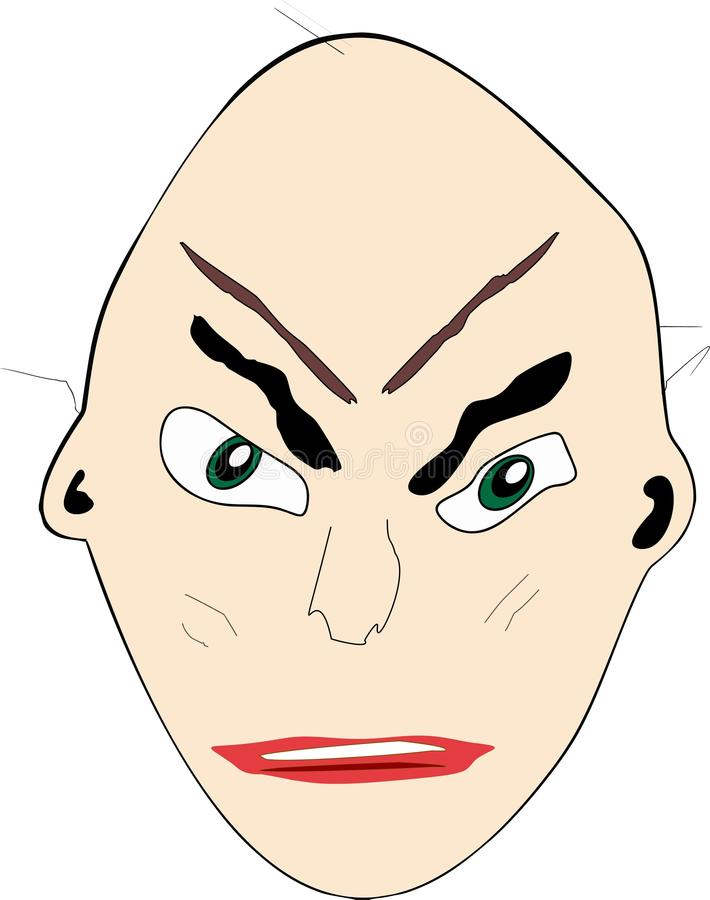 Download Cartoon Face:  Unhappy Bald Man Stock Illustration - Illustration: 37918561
