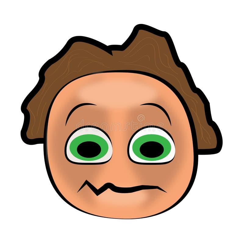 Cartoon face vector illustration