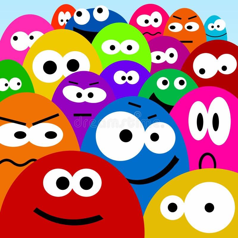 Download Cartoon faces stock illustration. Illustration of friend - 26301750