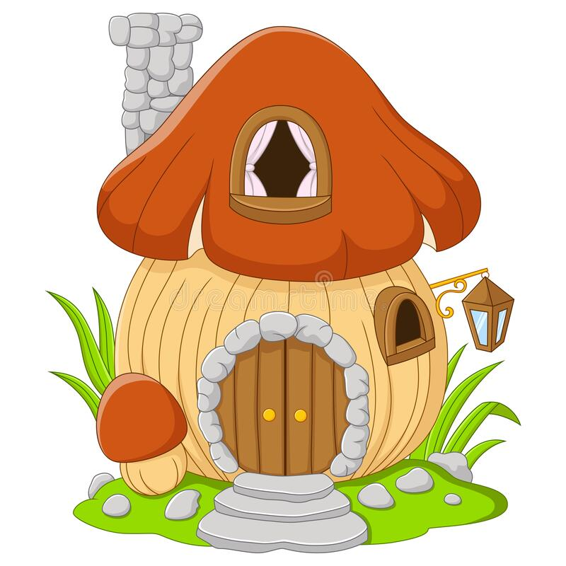 Free Cartoon Fairy House Mushroom On A White Background Royalty Free Stock Images - 191146779