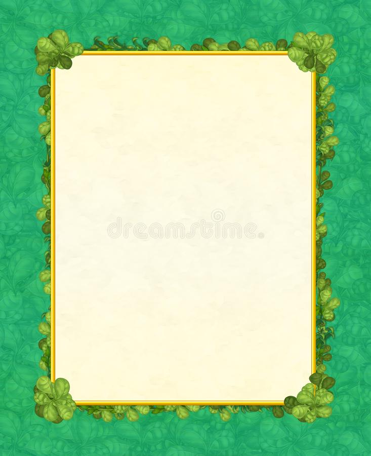 Cartoon fairy tale frame for different usage - beautiful birds and flowers - valentines vector illustration