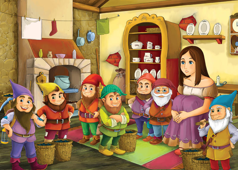 Cartoon fairy tale - illustration for the children royalty free illustration