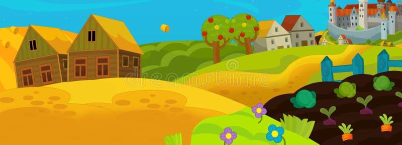 Cartoon fairy tale scene for animation or other vector illustration