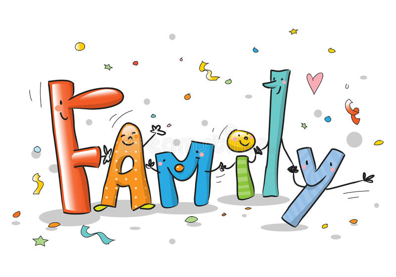 Cartoon family royalty free illustration