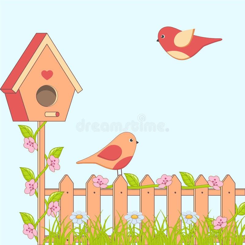 Spring birds royalty free illustration