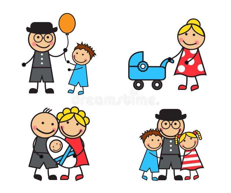 Cartoon family royalty free illustration