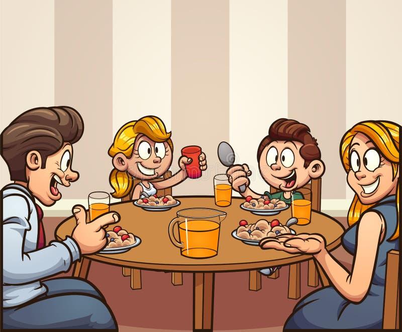 Cartoon Family Eating Stock Illustrations – 3,150 Cartoon ...