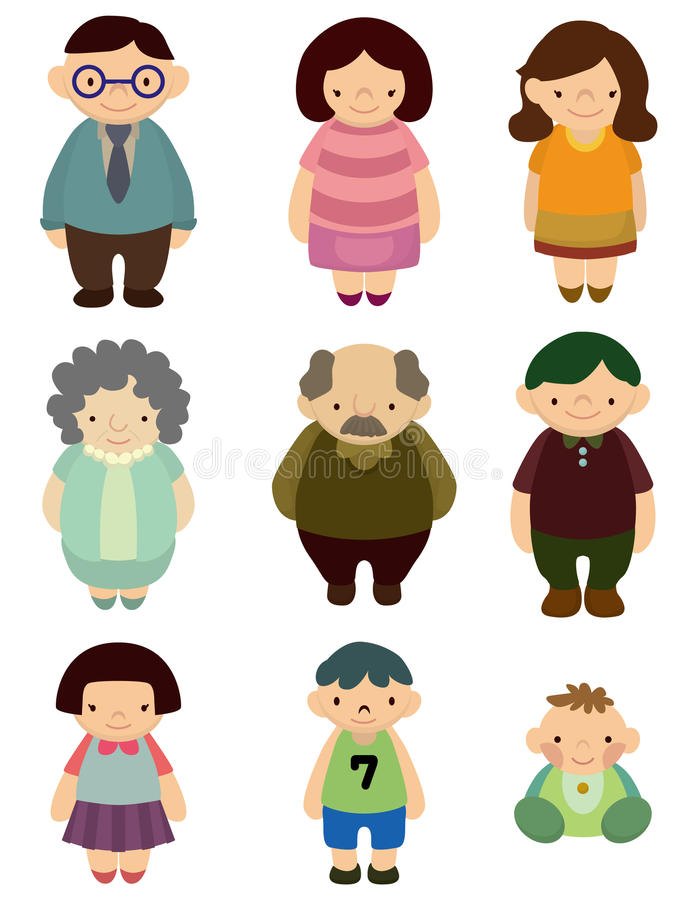 Cartoon family icon royalty free illustration