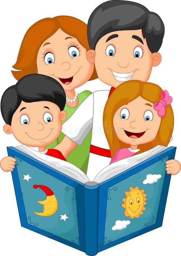 cartoon family read a bedtime story stock vector illustration of rh dreamstime com Literacy Clip Art Literacy Night Clip Art