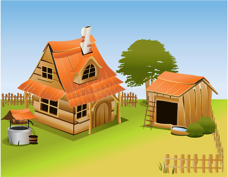 Cartoon farm vector illustration