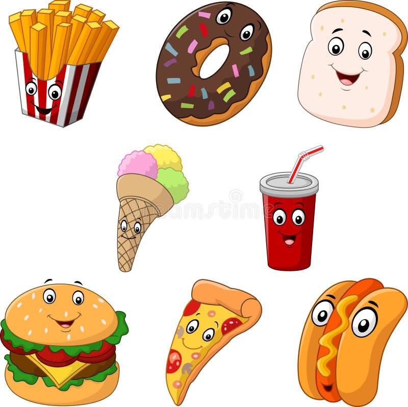 Cartoon fast food. Illustration of Cartoon fast food vector illustration